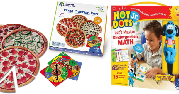 Have sum fun math games with this pizza fraction fun and hot dots jr.