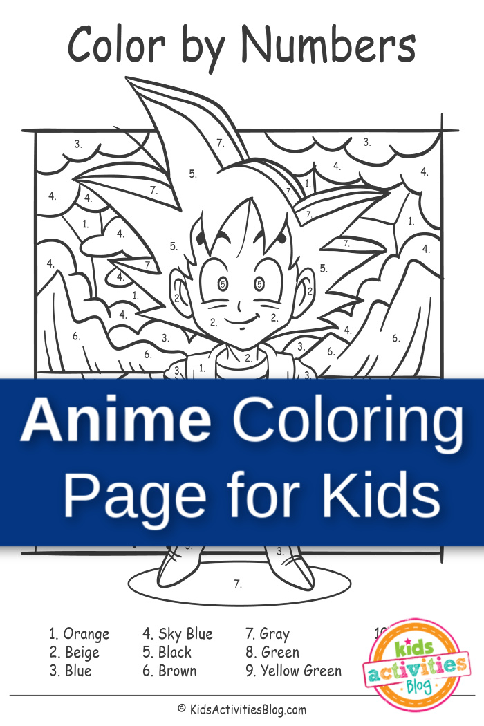Anime Coloring Page for Kids