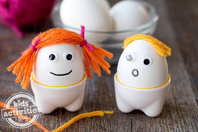 Easter egg buddies idea for decorating eggs - Kids Activities Blog