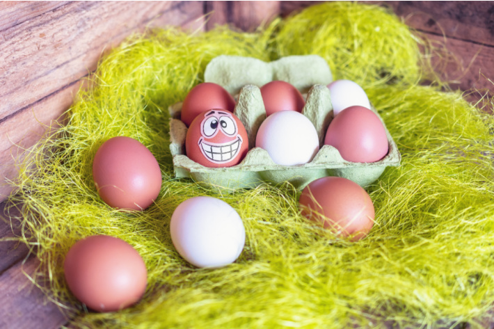 Eggs Decorated with Stickers - Kids Activities Blog