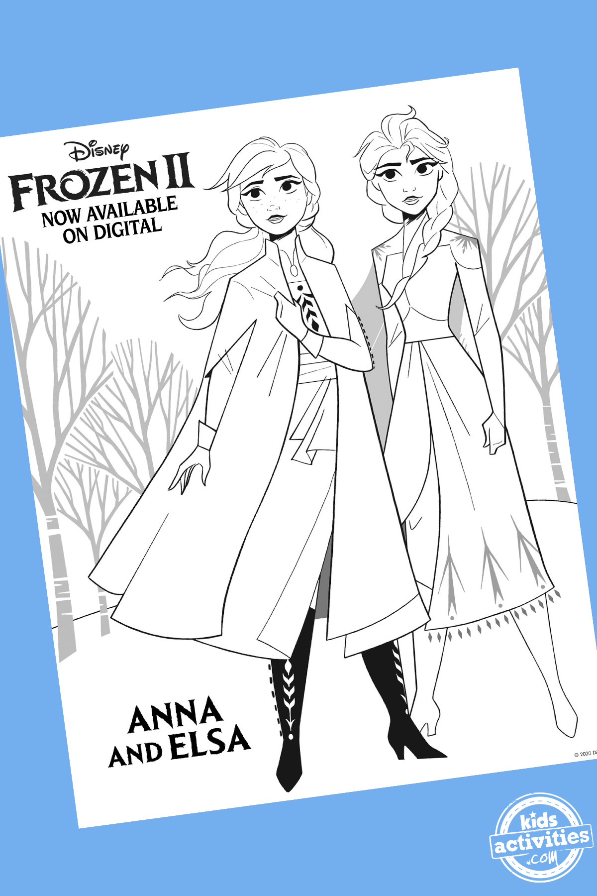 Frozen Coloring Pages Featuring New Characters from Frozen 2!
