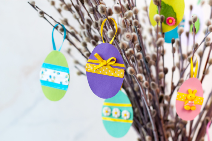 Paper Easter Egg decorations from crafts for kids - Kids Activities Blog