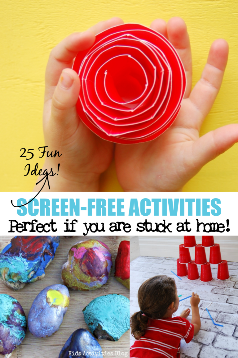 25 Screen-Free Activities for Kids Perfect if You Are Stuck at Home!