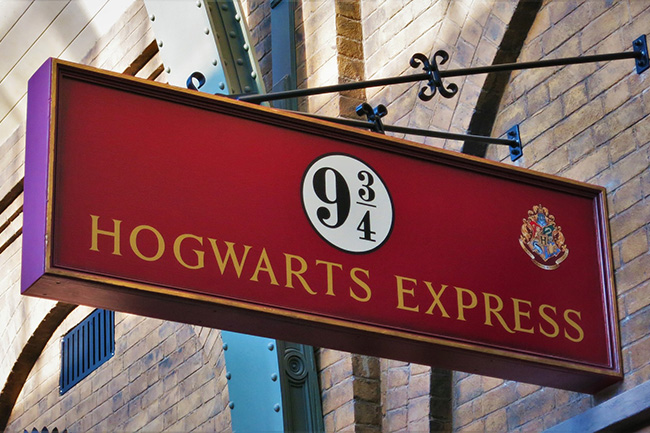 Hogwarts Escape Room - digital escape room you can complete from home - Hogwarts Express Sign