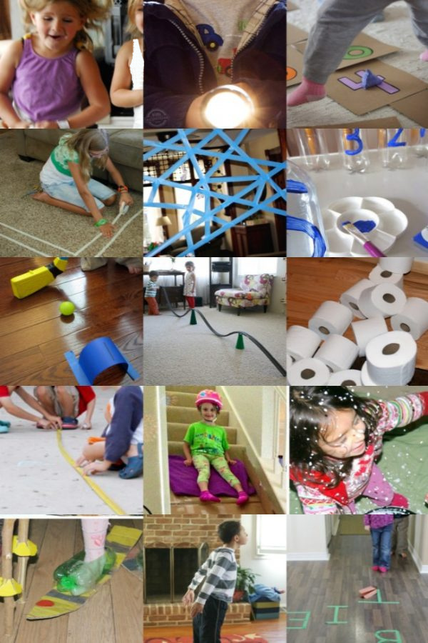 30+ Indoor Games For Kids To Play Inside - Kids Activities Blog - shown are 15 of the active indoor games for kids at birthday parties, indoor kid party, rainy day and snow days.