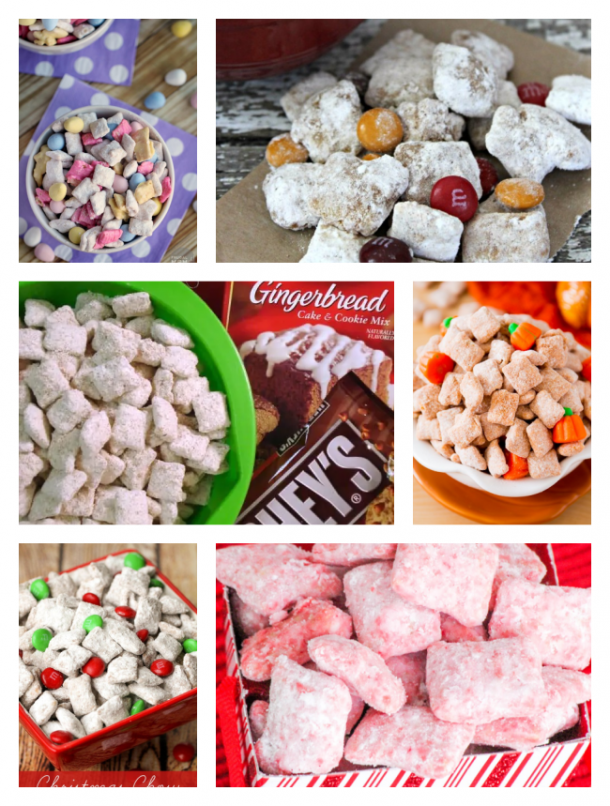 puppy chow for the holidays like thanksgiving, Christmas, easter, fall