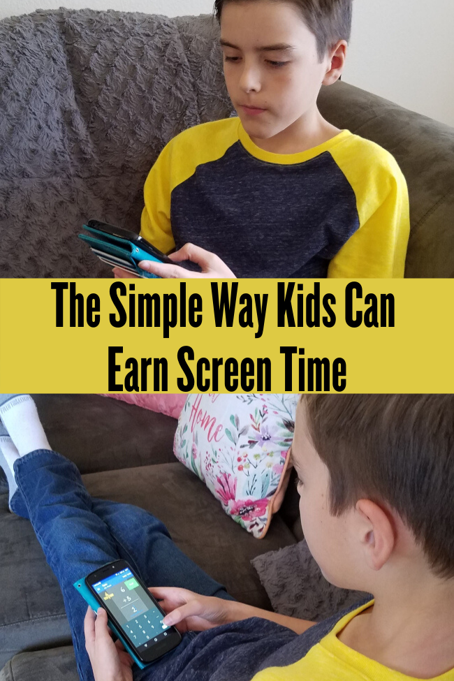 Your Child Can Earn Screen Time By Doing Math Problems