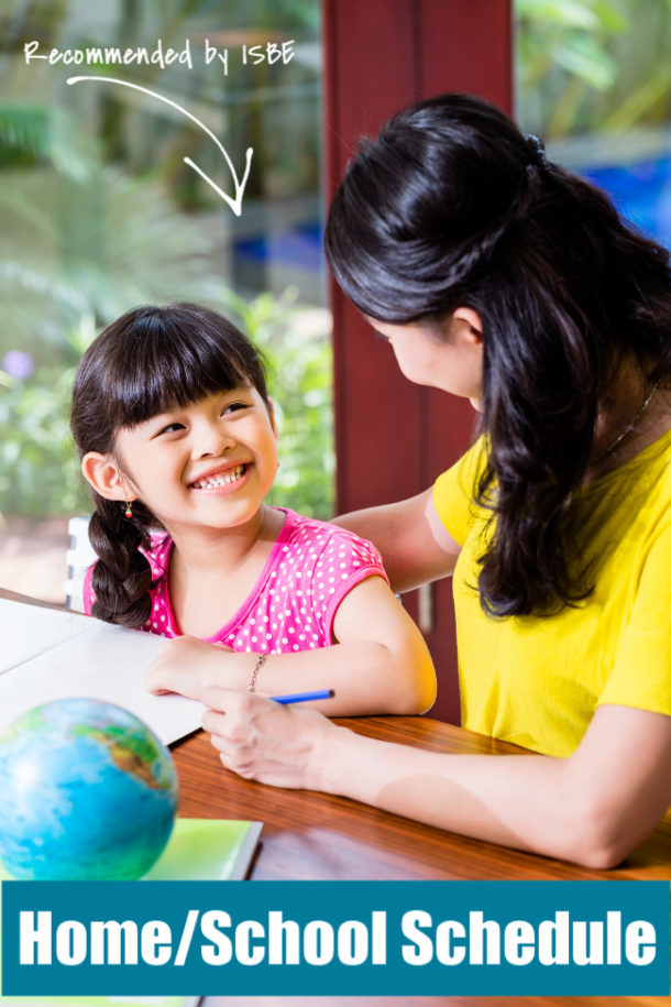Homeschool Schedule recommended by the Illinois Board of Education