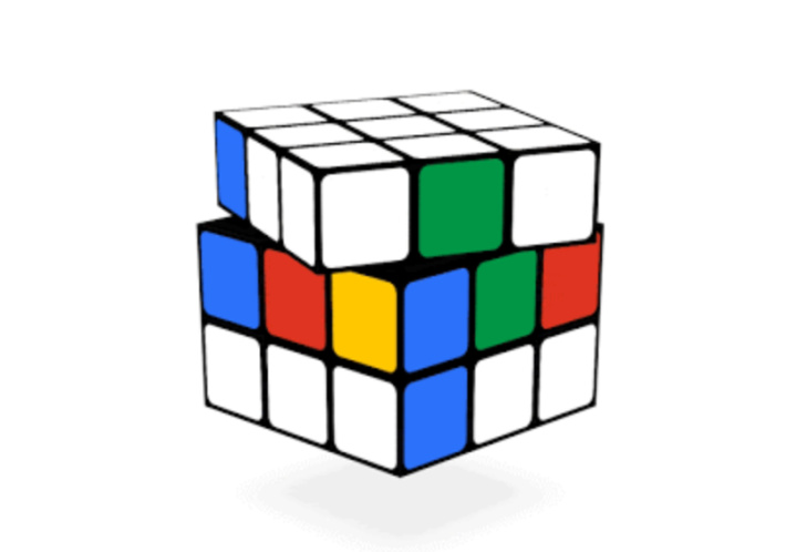 Interactive Rubiks Cube Google Doodle Screenshot - Kids Activities Blog