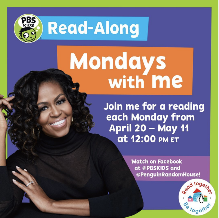 Michelle Obama Is Hosting A Weekly Story Time With PBS Kids