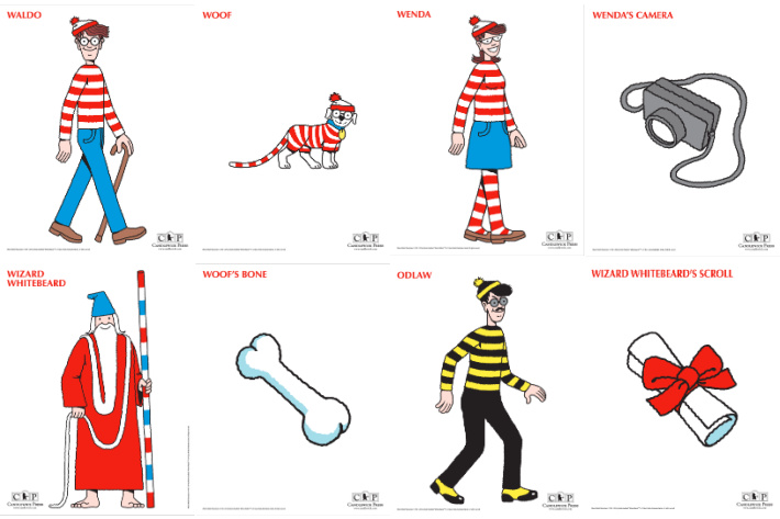 Wheres Waldo Online Characters to print from Candlewick - Kids Activities Blog