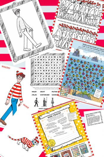 Wheres Waldo Printable Coloring Pages and Activity Sheets - Kids Activities Blog - printed variety of pdfs shown