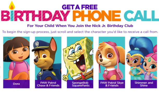 nick jr birthday call