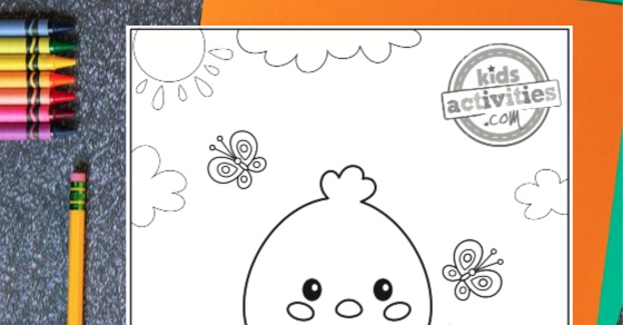 Absolutely The Cutest Baby Chick Coloring Page Ever