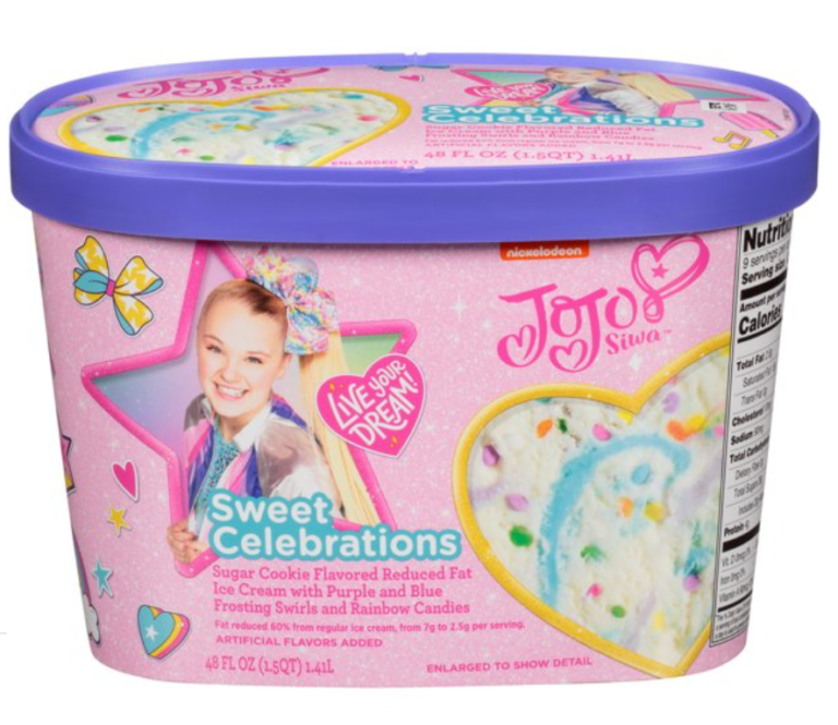 You Can Get JoJo Siwa Ice Cream Complete with Purple and Blue Frosting Swirls