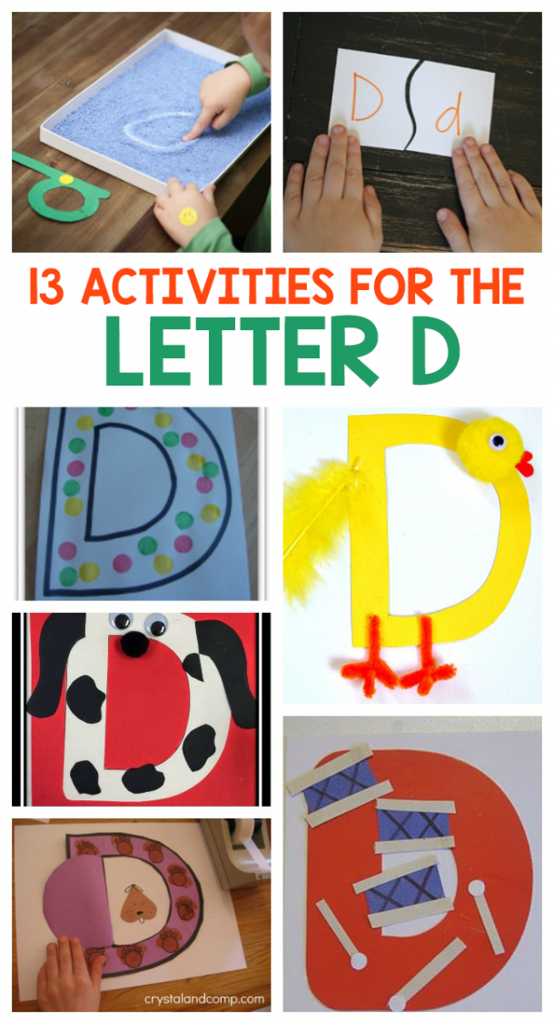 Letter D activities for preschoolers and kindergarteners