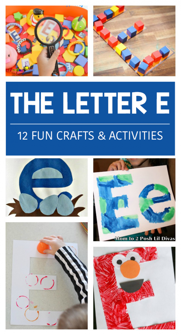 Crafts Letter E for kindergarten and preschool - fun E activities for kids