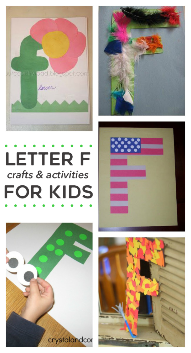 Craft Letter F - Kindergarten and preschool age alphabet craft selection like F is for flag