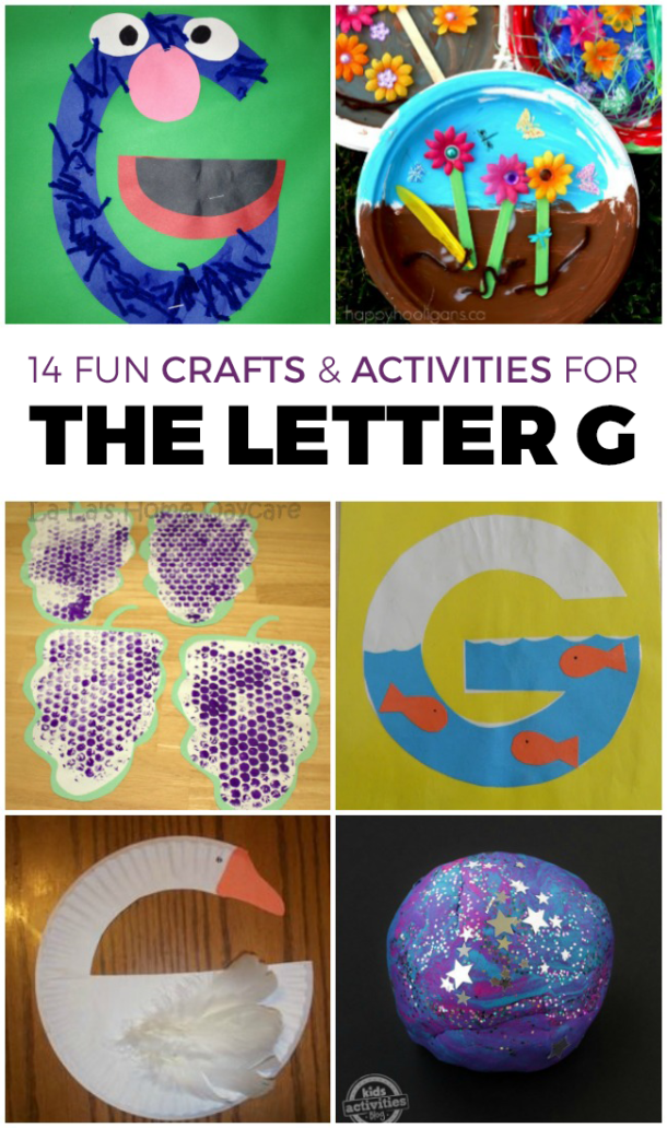 Letter G Activities - preschool crafts and fun for kids to learn the letter g through activities