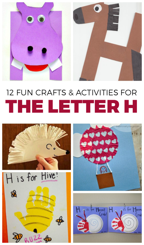 The Letter H craft and activity selection for preschoolers - H is for horse and others pictured here