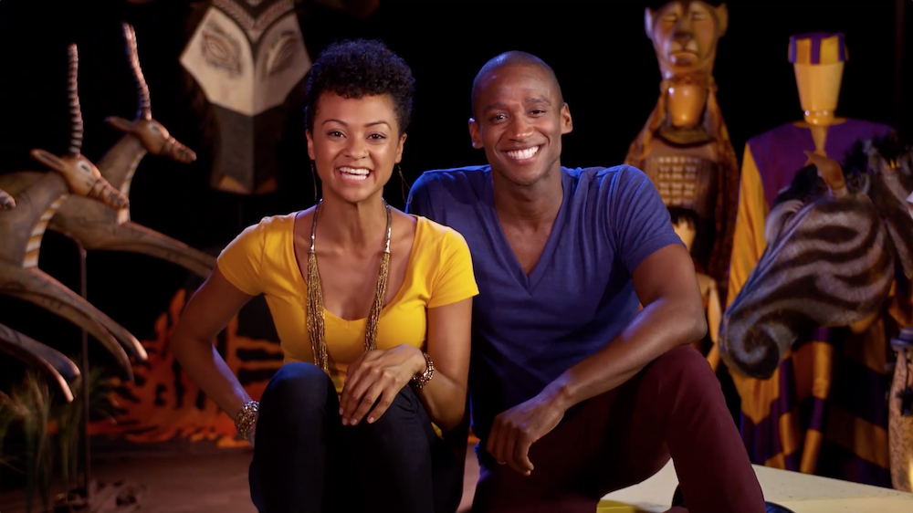 ach lesson is introduced in a video clip by Jelani Remy and Syndee Winters, who starred in The Lion King on Broadway.