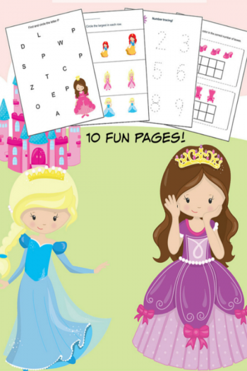 10 printable preschool princess worksheets