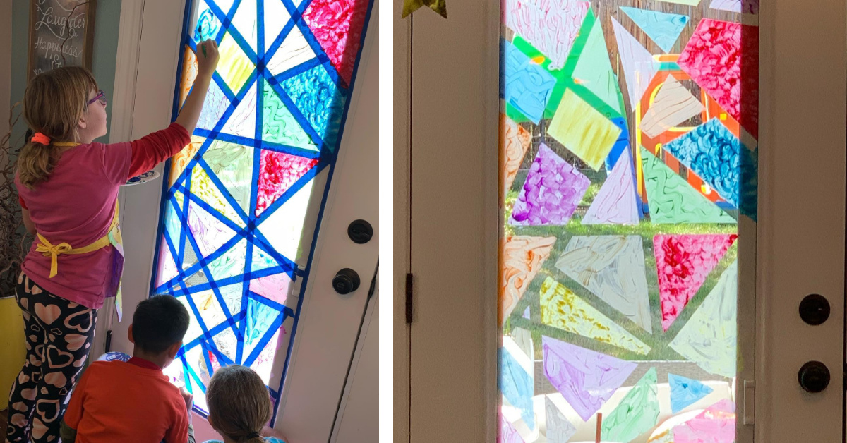 Families Are Creating Stained Glass Windows At Home And Here S How You Can Too