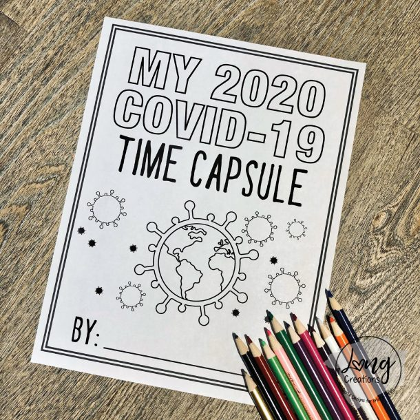 covid 19 time capsule printable