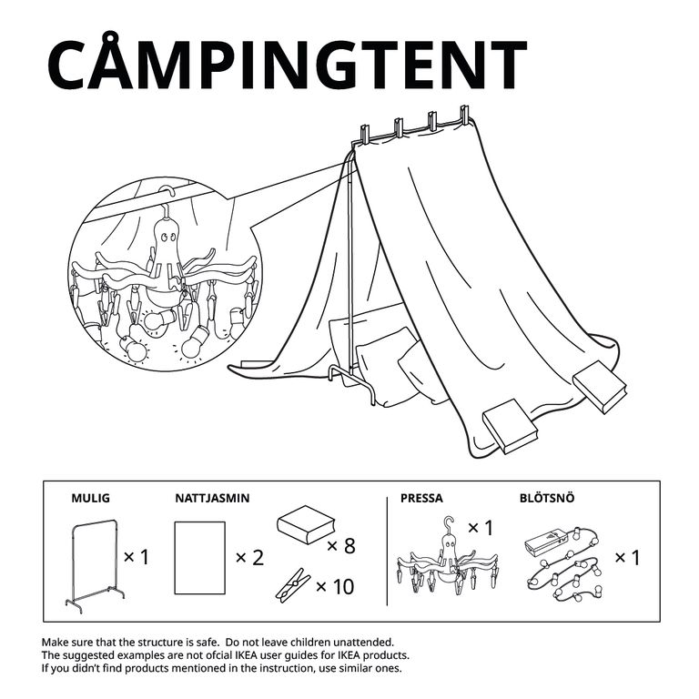 tent for kids using a clothing rack, blankets, and clothespins