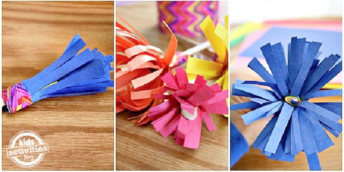 How to Make Construction Paper Flowers Steps 4-7