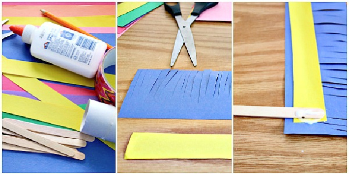 How to Make Construction Paper Flowers Supplies and Steps 1-3