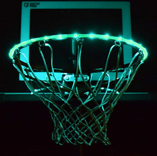 You Can Get A Light Up LED Rim Kit That Keeps Basketball Games Going All Night