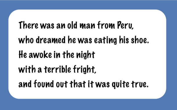 The old man from Peru limerick