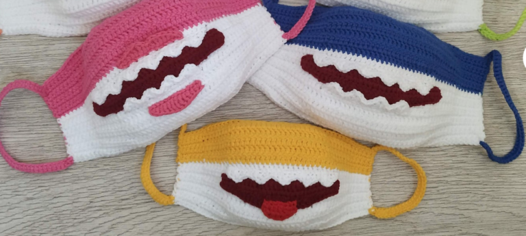 You Can Crochet A Baby Shark Mask and The Entire Family Needs One