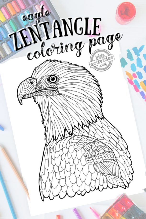 Printable Bald Eagle Coloring Page for Kids #1 – SupplyMe | 915x610