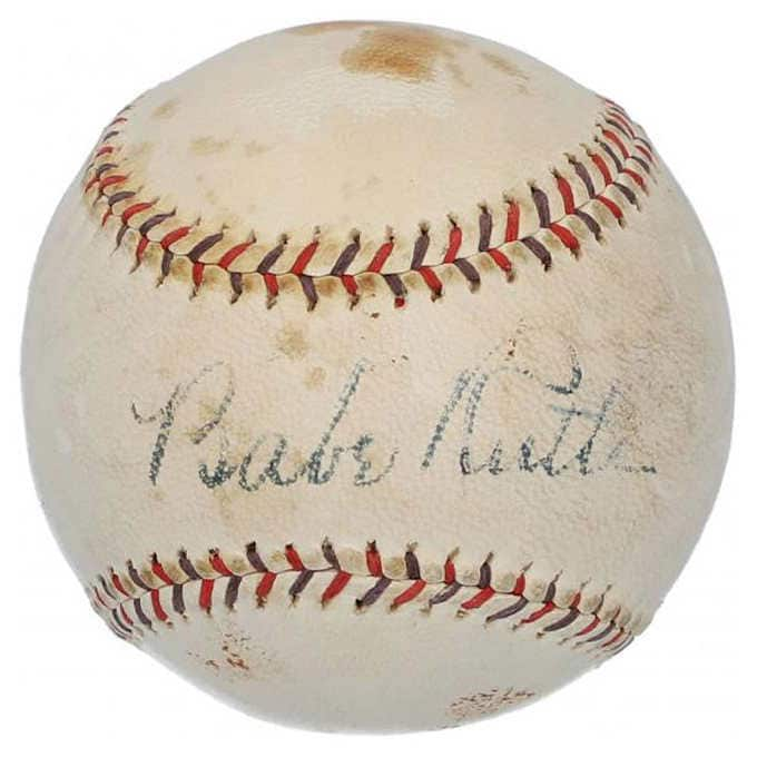 Bath Ruth New York Yankees Autographed Baseball