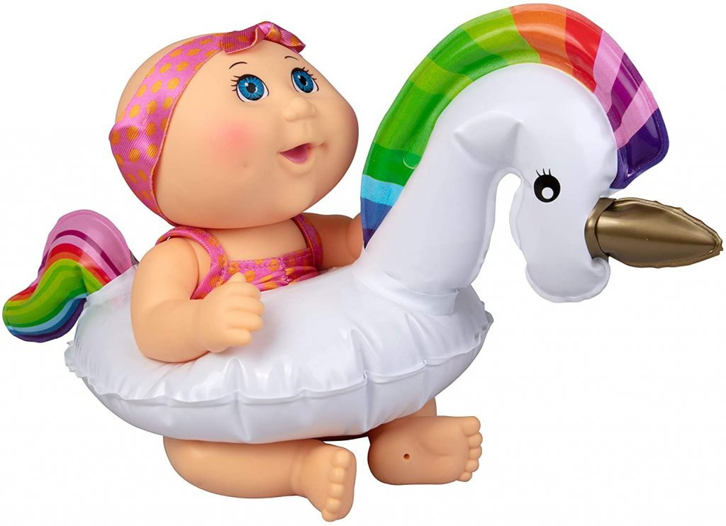 swimming doll with unicorn float