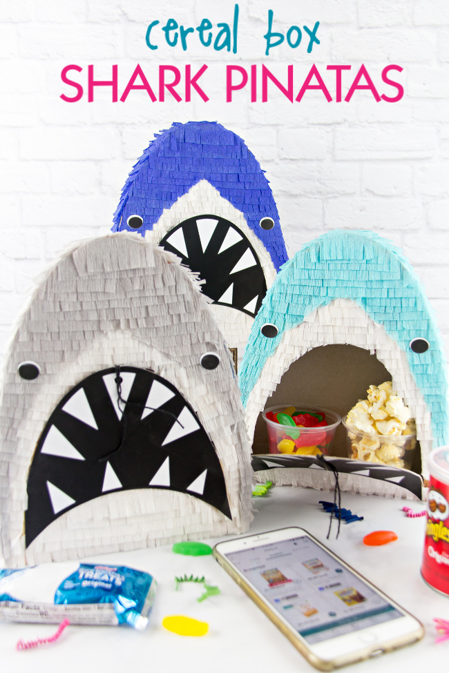 How to Make a Cereal Box Shark Pull-String Piñata