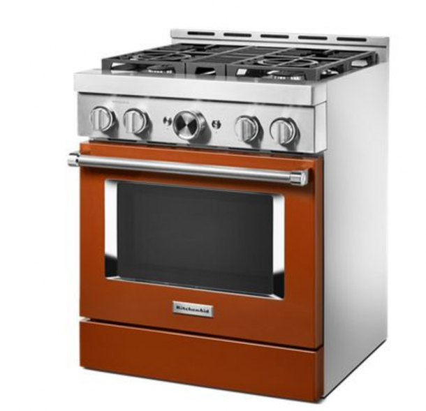 Orange gas range