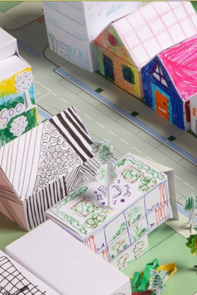 Your Kids Can Create A Paper City And Learn About Architecture. Here's How