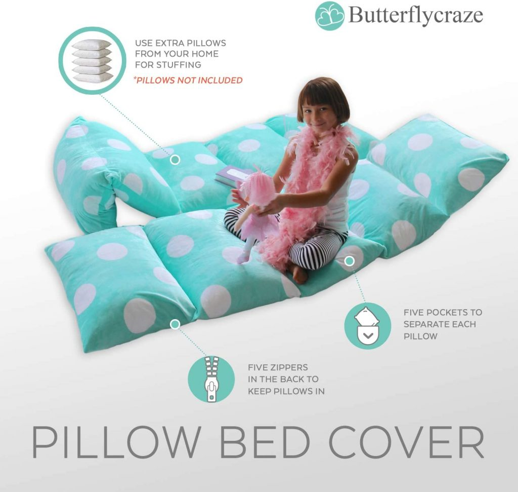 pillow bed cover