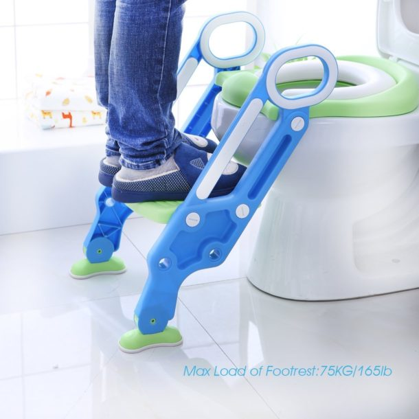toilet seat with step ladder