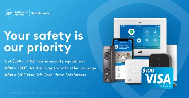 Best Price on ADT: Stay Safe at Home with a SafeStreets Home Security System