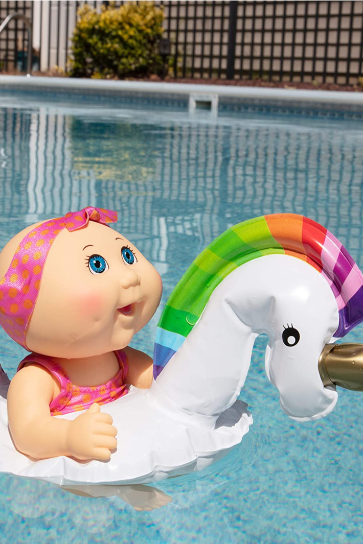 You Can Get a Cabbage Patch Kid Swimming Doll That Comes With It's Own Pool Float