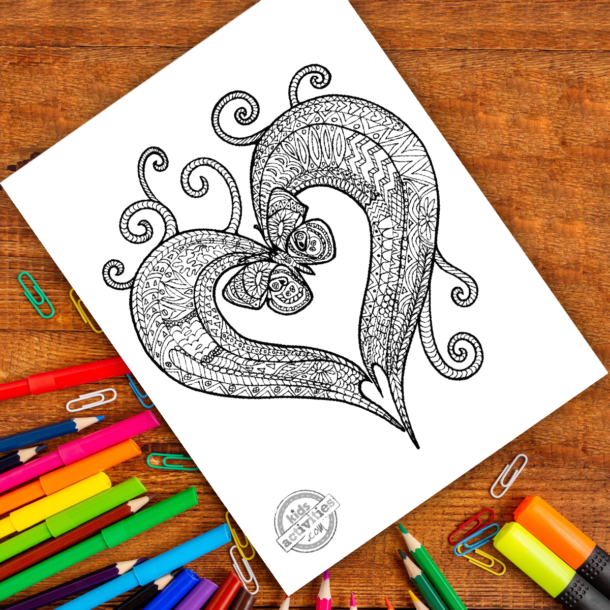 intricate zentangle pattern art ready to be colored with mixed art supplies and bright colors
