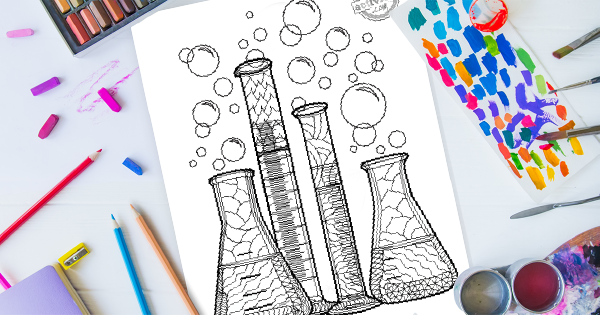 Zentangle Chemistry Coloring Page