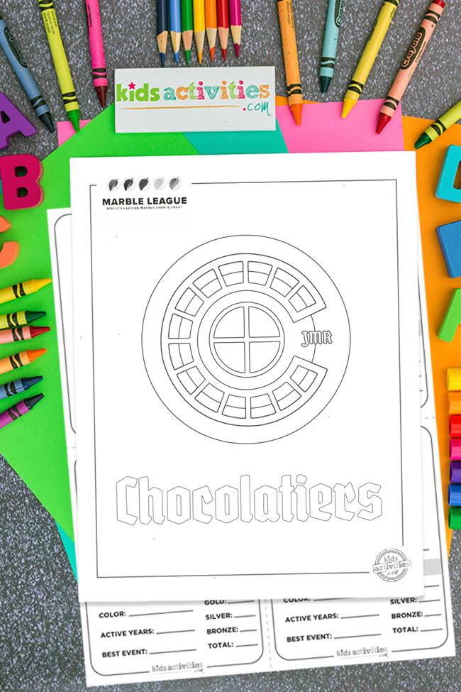 Marble runs Chocolatiers team logo printable