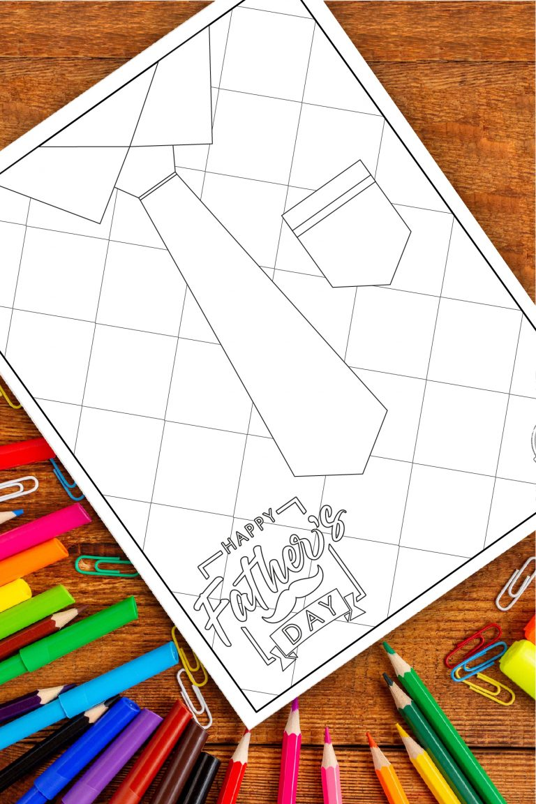 Free Fun Necktie & Shirt Fathers Day Coloring Pages to Print