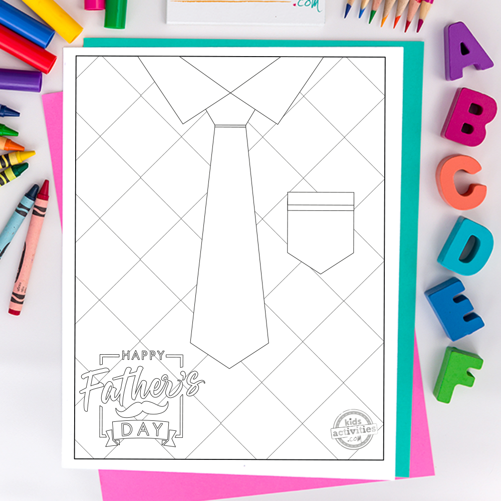 FREE Fathers Day Coloring Pages | 1000x1000