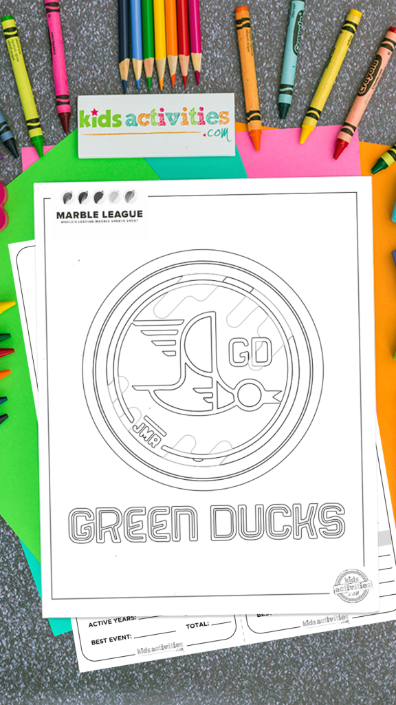 Green Ducks Marble League Printables